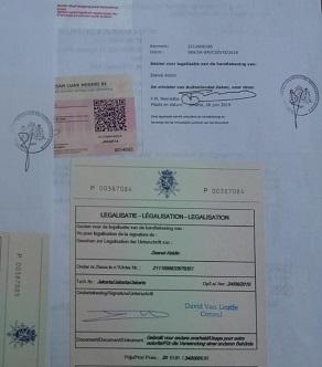 Contoh jasa legalisasi kedutaan Belgia
