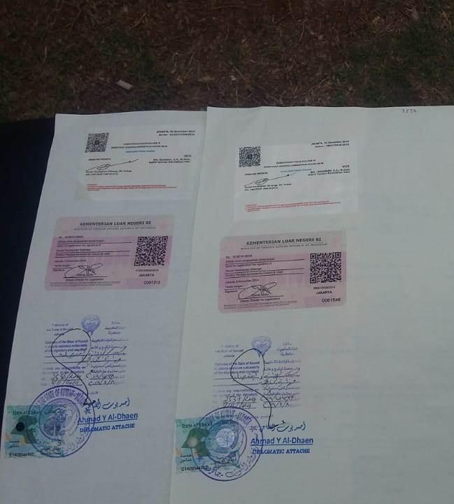 Contoh jasa legalisasi kedutaan Kuwait
