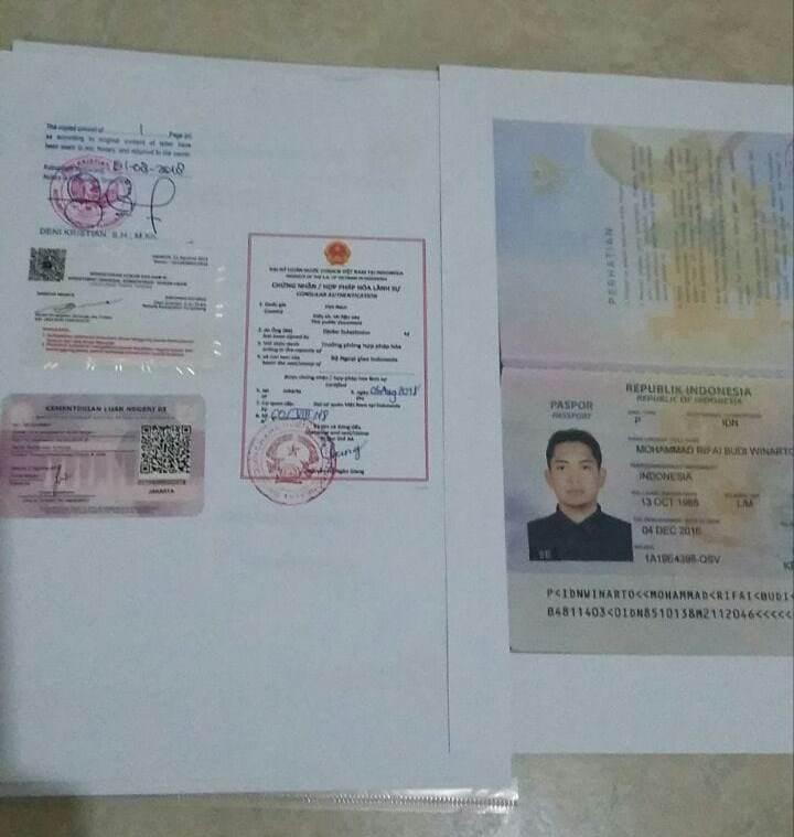 Contoh jasa legalisasi kedutaan vietnam
